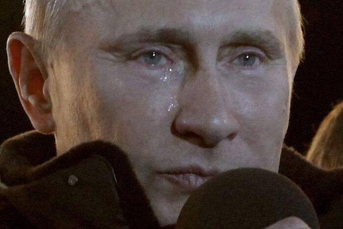 普京竞选胜利时落泪了